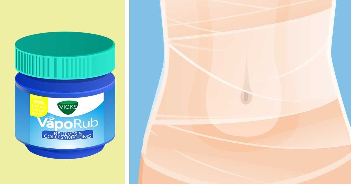 Use plastic wrap and Vicks VapoRub to tighten your tummy