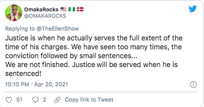 ellen degeneres slammed for her one word response to derek chauvin's verdict   it appears ellen degeneres is going through a bit of a rough patch lately…